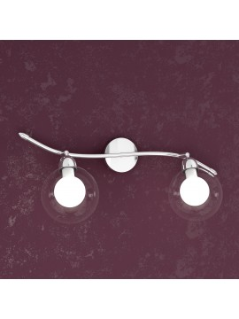 Applique 2 lights with 1098-f2bi tpl glass spheres