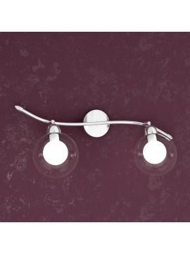 Applique 2 luci con sfere di vetro tpl 1098-f2bi