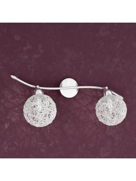 Applique 2 luci con sfere in alluminio tpl1098-f2go