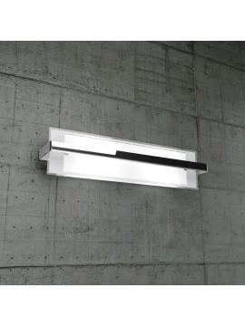 Applique 2 luci cromato in vetro tpl1106-agcr