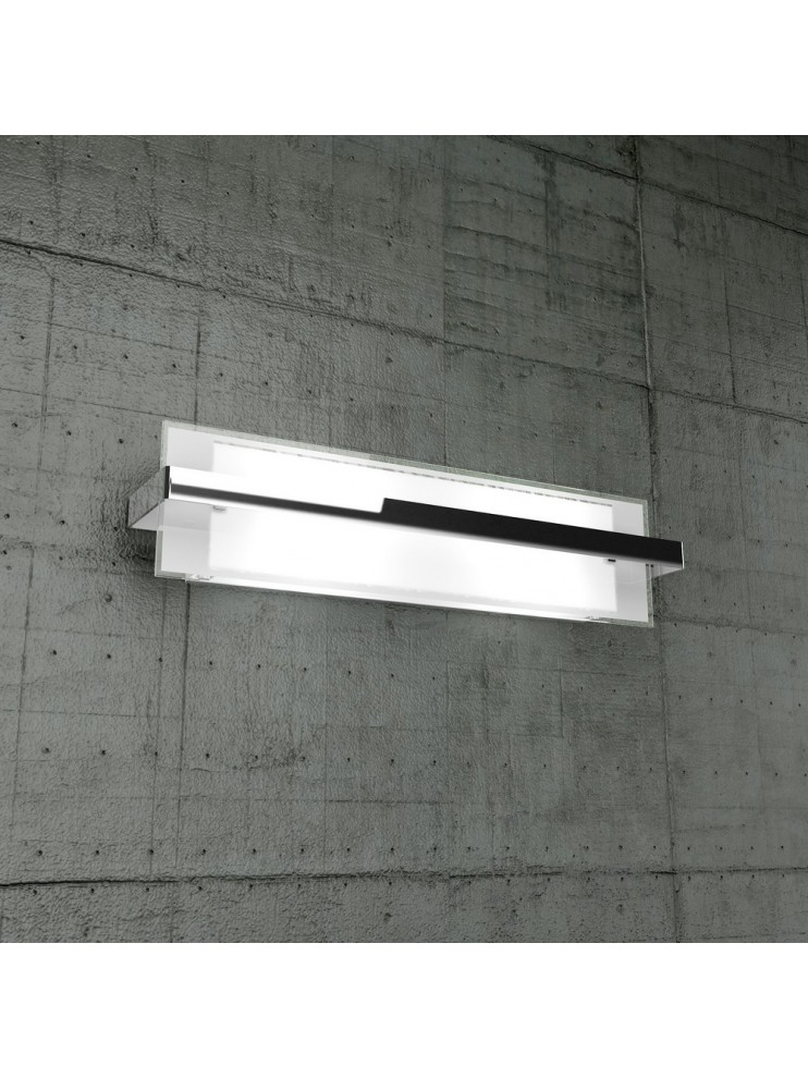Wall lamp 2 lights chrome glass tpl1106-agcr