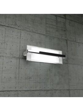 Applique 2 luci cromato in vetro tpl1106-amcr