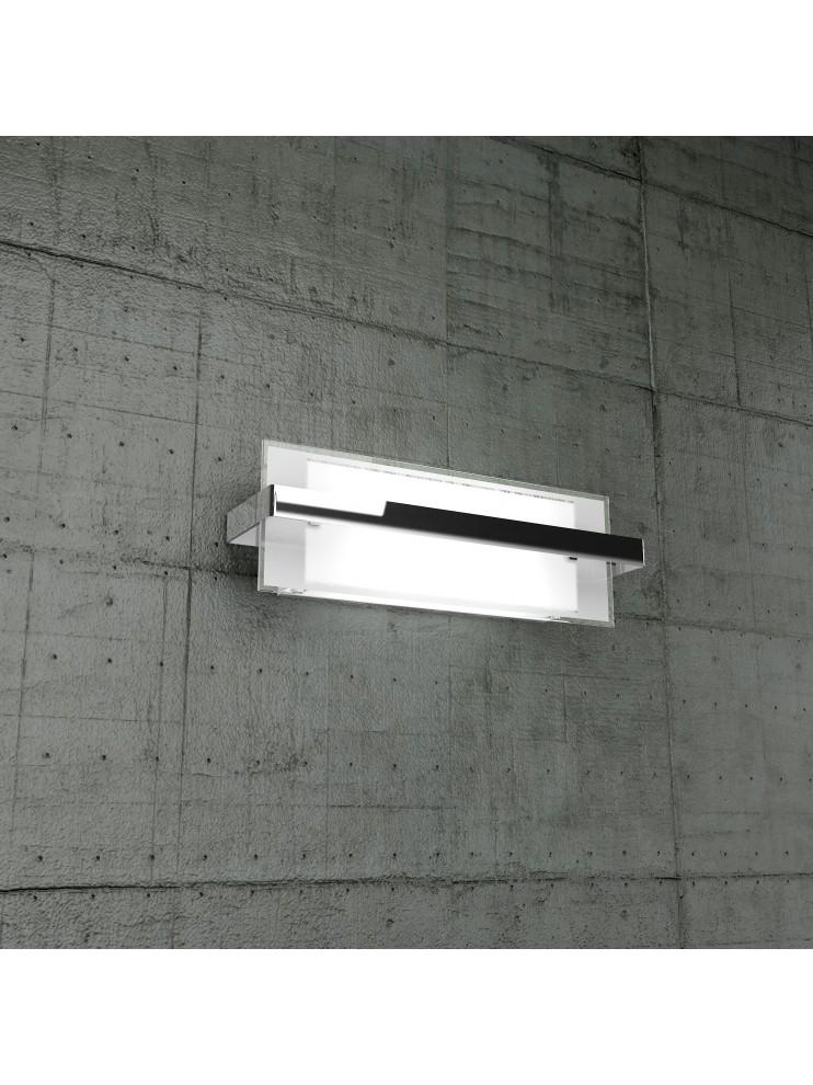Wall lamp 2 lights chromed glass tpl1106-amcr