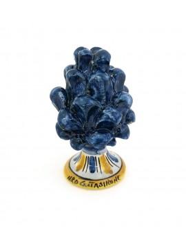 Pigna in ceramica di Caltagirone h10 cm blu