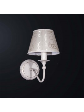 Contemporary classic wall light in wrought iron 1 light BGA 3133-a1
