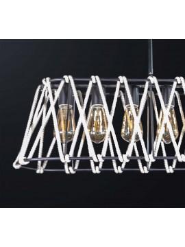 Modern vintage black rope chandelier with 6 lights BGA 3134-s75