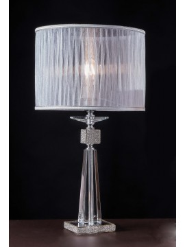 Large modern crystal and rhinestone lamp with 1 light Design Swarovsky Ornella