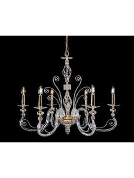 Classic crystal and strass chandelier 6 lights Swarovsky design elide