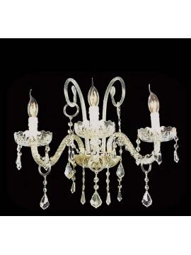 Applique in cristallo 3 luci classico Design Swarovsky BGA 657