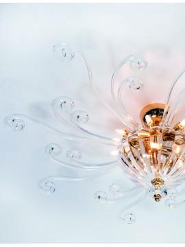 Plafoniera classica in cristallo a 11 luci Design Swarovsky Ischia 80
