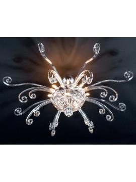 Plafoniera moderna in cristallo a 11 luci Design Swarovsky Capri 80