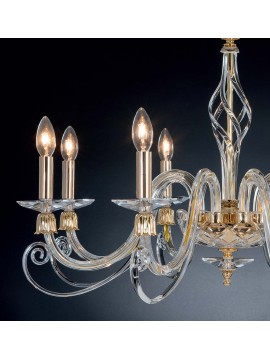 Classic crystal chandelier with 8 lights Design Swarovsky Ares
