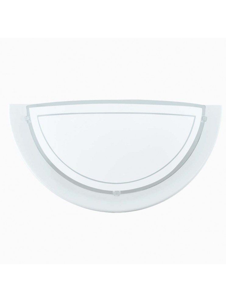 Classic white glass wall light GLO 83154 Planet 1