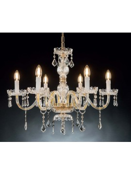 Classic crystal chandelier with 6 lights Design Swarovsky Ker