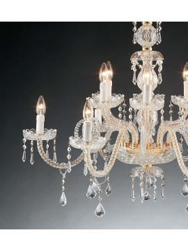 Classic crystal chandelier with 12 lights Design Swarovsky 1315