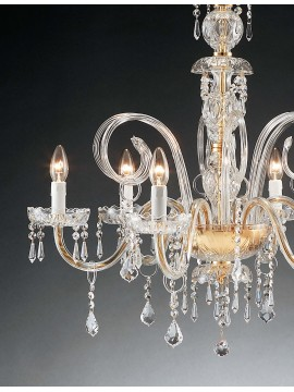 Classic crystal chandelier with 6 lights Design Swarovsky 1301