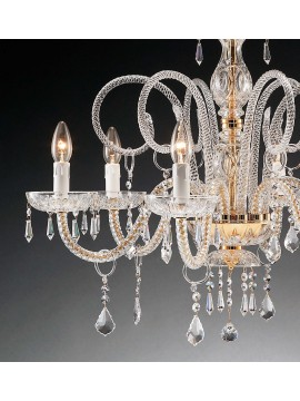 Classic crystal chandelier with 6 lights Swarovsky Design LU600T