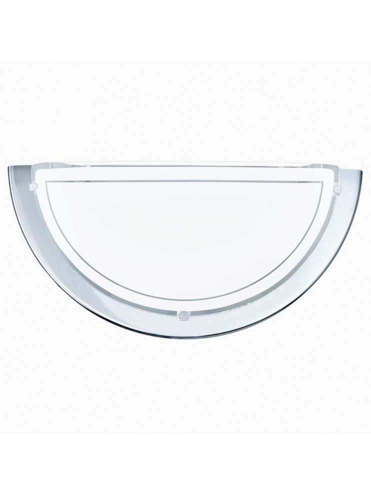 Contemporary white glass wall light GLO 83156 Planet 1