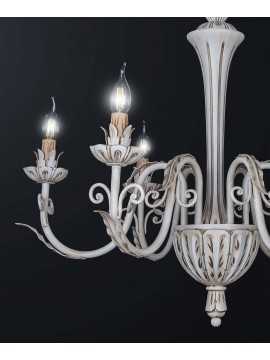 Classic contemporary 6-light wooden chandelier BGA 3158-6
