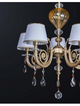 Classic chandelier in brass and crystal with 5 lights BGA 3160-5