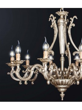 Classic chandelier in antique brass with 10 lights BGA 3177-10