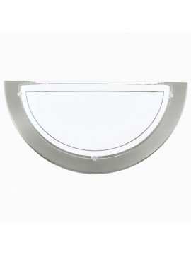 Contemporary white glass wall light GLO 83163 Planet 1
