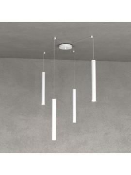 Modern pendant lamp peninsula kitchen design white 4 lights tpl 0023
