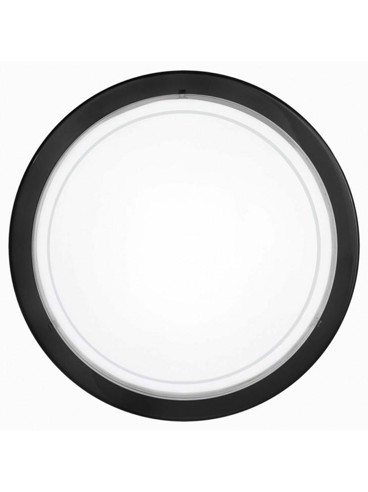 Plafoniera nera in vetro bianco GLO 83159 Planet 1