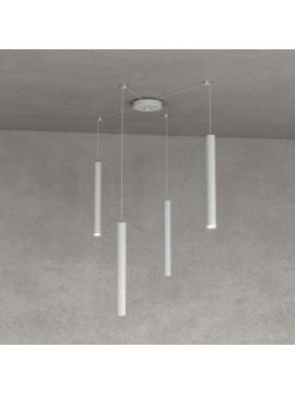 Modern pendant lamp peninsula kitchen design gray 4 lights tpl 0025