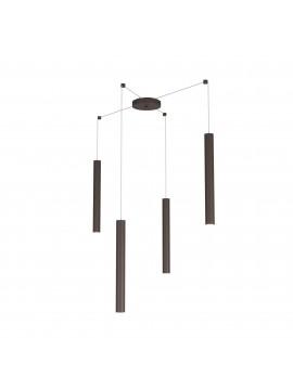 Modern pendant lamp peninsula kitchen design brown 4 lights tpl 0026
