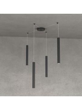 Modern pendant lamp peninsula kitchen design black 4 lights tpl 0027