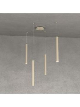 Modern pendant lamp peninsula kitchen design dove gray 4 lights tpl 0028