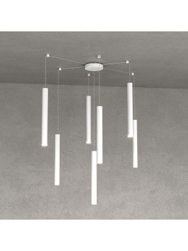 Modern pendant lamp living room kitchen design white with 7 lights tpl 0029