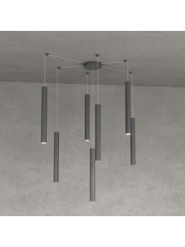 Modern pendant lamp living room kitchen design anthracite with 7 lights tpl 0030