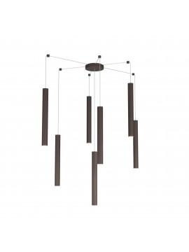 Modern pendant chandelier in brown design living room kitchen with 7 lights tpl 0032