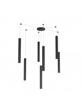 Modern pendant lamp living room kitchen design black with 7 lights tpl 0033