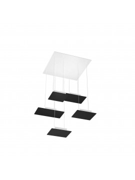 Modern pendant lamp for living room design black with 5 lights tpl 0036