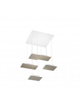 Modern design pendant lamp for living room in dove gray design with 5 lights tpl 0037