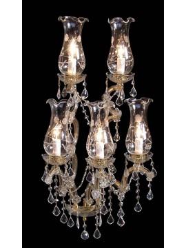 Applique in cristallo classico Design Swarovsky 5 luci BGA 1414