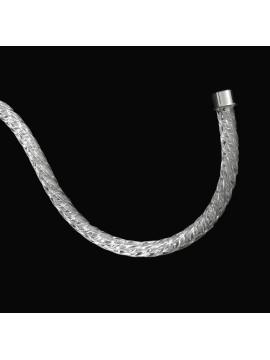 Braccio per Lampadario in Cristallo Torciglione 41cm Cromo