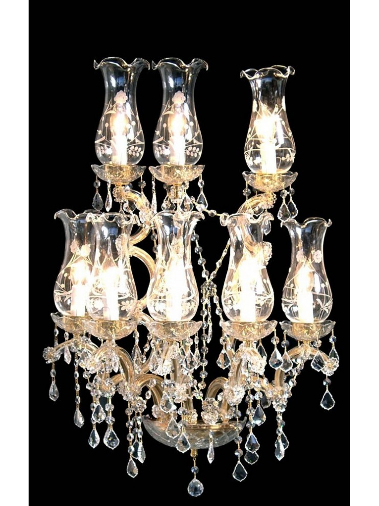 Applique in cristallo classico Design Swarovsky 8 luci BGA 1414