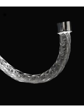 Braccio per Lampadario in Cristallo Torciglione 25cm Cromo