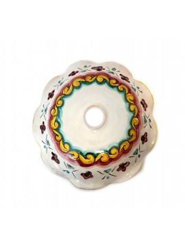 Piatto in ceramica siciliana per lampadario D.30 decoro Giulia