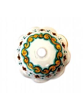 Piatto in ceramica siciliana per lampadario D.30 decoro Martina