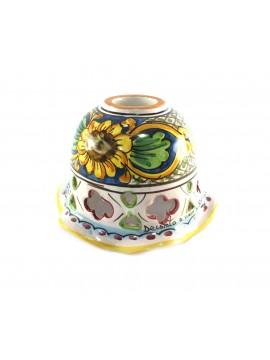 Piatto in ceramica siciliana per lampadario D.16 decoro Candida