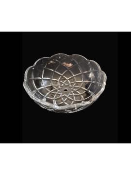 Bobeche tazza grande in cristallo collezione lisa Ø20