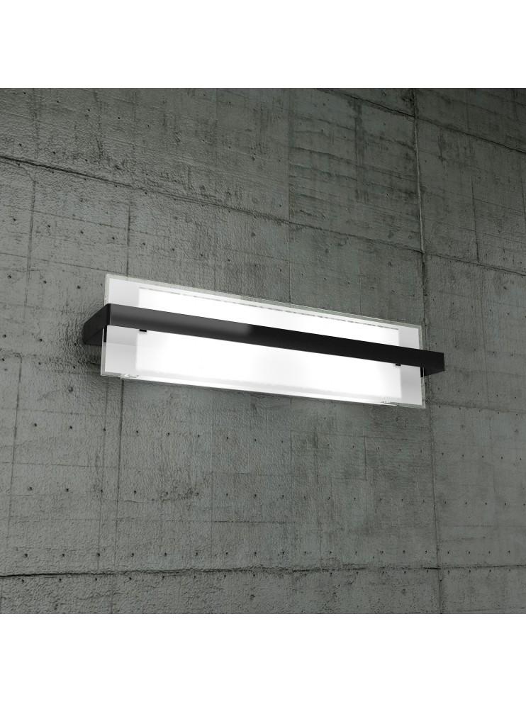 Applique moderno 2 luci in vetro nero tpl1106-agne
