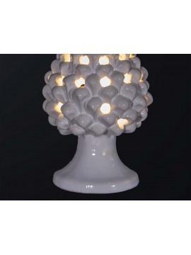 Pine cone lamp H.21cm in white ceramic 1 light BGA 3179-lm