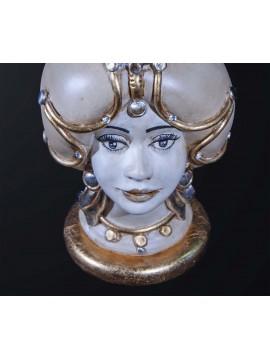 Woman dark brown lamp in classic ceramic h.32cm BGA 3182-l
