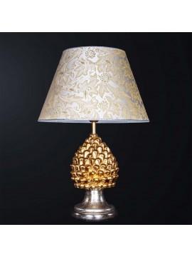 Large pine cone lamp in classic gold leaf ceramic 1 light BGA 3183-lgr